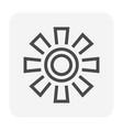 blade fan icon vector image