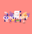 business people make a deal agreement checking vector image vector image