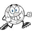 Cartoon soccer ball vector image vector image
