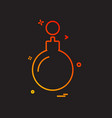 christmas ball icon design vector image vector image