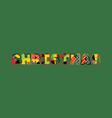 christmas concept word art vector image vector image