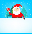 christmas greeting card template with cartoon vector image