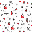 christmas pattern snowflake decoration and vector image vector image