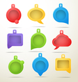 Color speech clouds collection vector image vector image