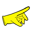 comic cartoon rubber glove vector image vector image
