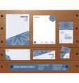 Corporate Identity Set vector image vector image