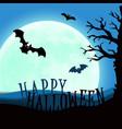 design withpumpkin on cemetery happy halloween vector image vector image
