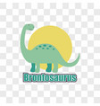 dinosaur isolated on transparent background vector image