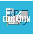 Education concept background vector image vector image