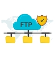 FTP concept with three folders vector image vector image