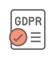 gdpr general data protection regulation icon vector image vector image