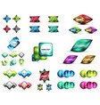 glass and metal buttons or labels vector image vector image