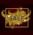 gold sale text vector image