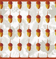 hand drawn acorn seamless pattern autumn leaves vector image