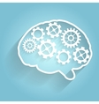Human brain with gears for your design vector image vector image