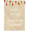 keep calm and wait for christmas vector image vector image