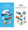 logistics isometric banners vector image vector image