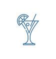martini line icon concept martini flat vector image vector image