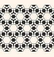 monochrome seamless pattern delicate hex vector image vector image