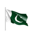 pakistan flag flat style vector image vector image