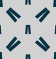 Pants icon sign Seamless pattern with geometric vector image vector image