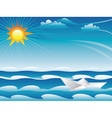 Paper Boat in the Sea vector image vector image