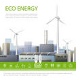 realistic eco energy colorful concept vector image