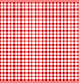 red gingham pattern background vector image vector image