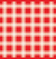 red gingham pattern geometric background vector image