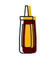 restaurant sauce bottle vector image vector image