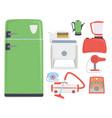retro vintage household appliances kitchenware vector image vector image
