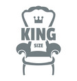royal armchair logo simple gray style vector image vector image