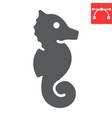seahorse glyph icon sea and ocean animals sea vector image vector image