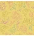seamless pattern with abstract flowers Yellow vector image vector image
