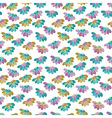 seamless pattern with many flowers vector image
