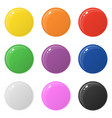 set 9 glossy round colorful buttons isolated vector image vector image