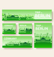 set of germany landscape country ornament travel vector image vector image