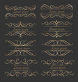 Set of luxurious decorative calligraphic elements