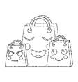 shopping bag emoji icon image vector image vector image