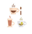 simple coffee icon isolated on white vector image vector image