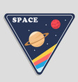 space saturn mars triangle frame background vector image vector image