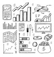 stock market had drawn symbols vector image