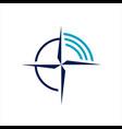 stylish flat creative compass logo concept design vector image vector image