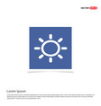 sun icon - blue photo frame vector image