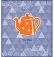 Tea time vintage pattern vector image