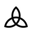 triquetra sign icon leaf-like celtic symbol vector image vector image