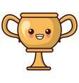 trophy cup championship kawaii cute cartoon vector image vector image
