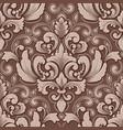 volumetric damask seamless pattern element vector image vector image