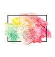 Watercolor spot in frame vector image