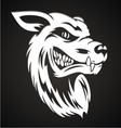 White Wolf Head vector image vector image